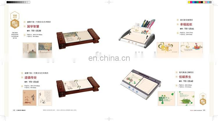 Delicate Desk calendar for 2015 support custom design