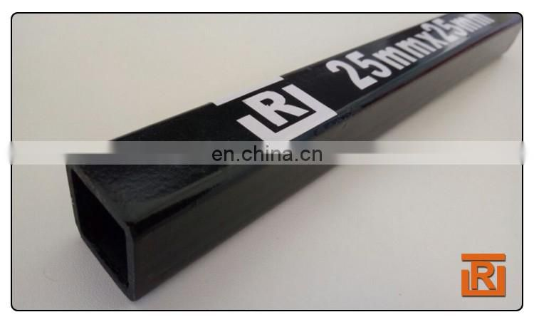 40x40MM ms steel Square Tube/ 0.9mm thick Black annealing tube oiled surface treatment thin wall pipe