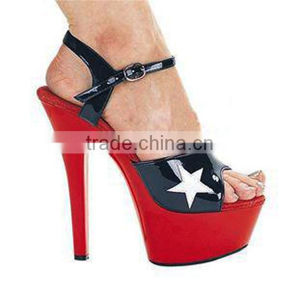 Hot Sale Women Stiletto High Heel Ankle Strap Sandal Red Heel Sandals Women Large Size Shoes Fashion Exotic Dancer Shoes