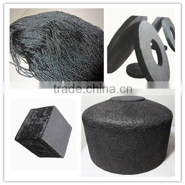 Carbon fiber product, composite material C-C needle felt preform