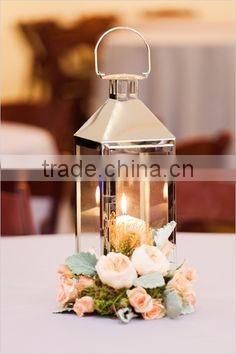 stainless steel clear glass lantern