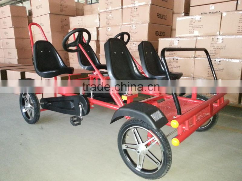 4 seat pedal car,4 person surrey bike,4 wheel bike for 4 person of