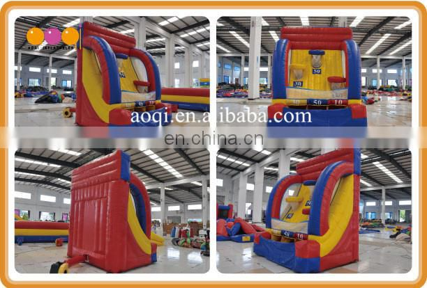 Customized inflatable toss sports game used mini inflatable basketball hoops for sale