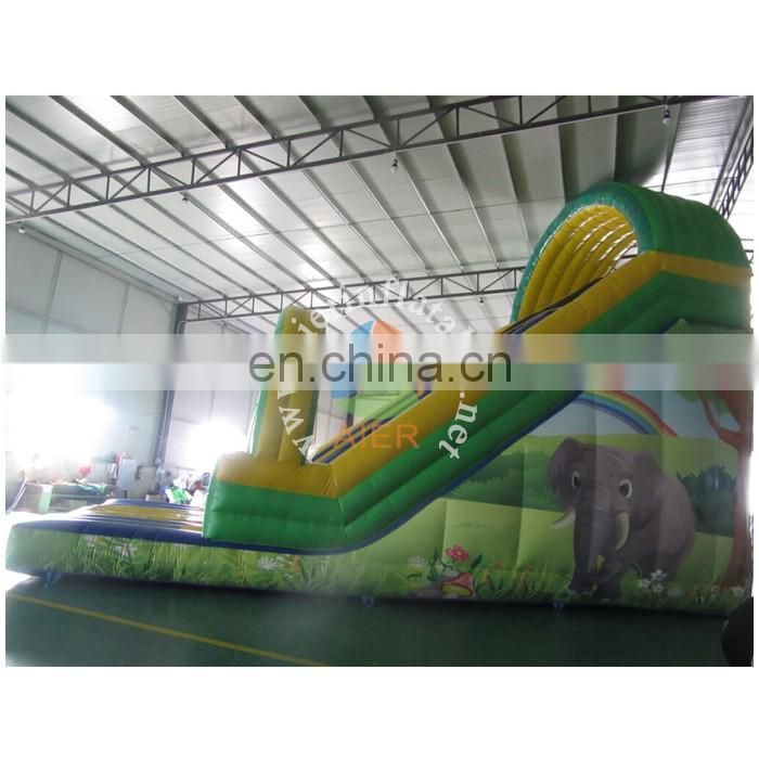 10m big elephant inflatable slide with arch