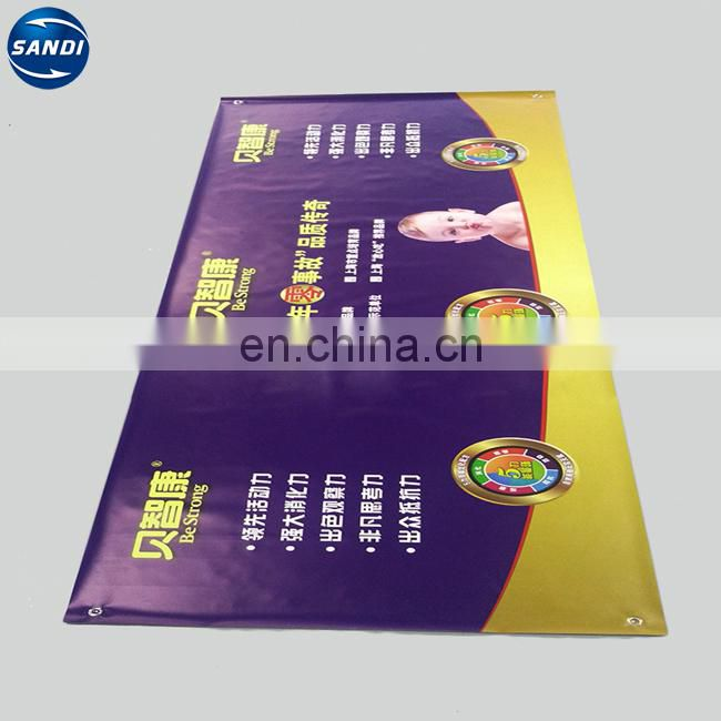 Custom pop up vinyl hanging advertising pvc flex banner