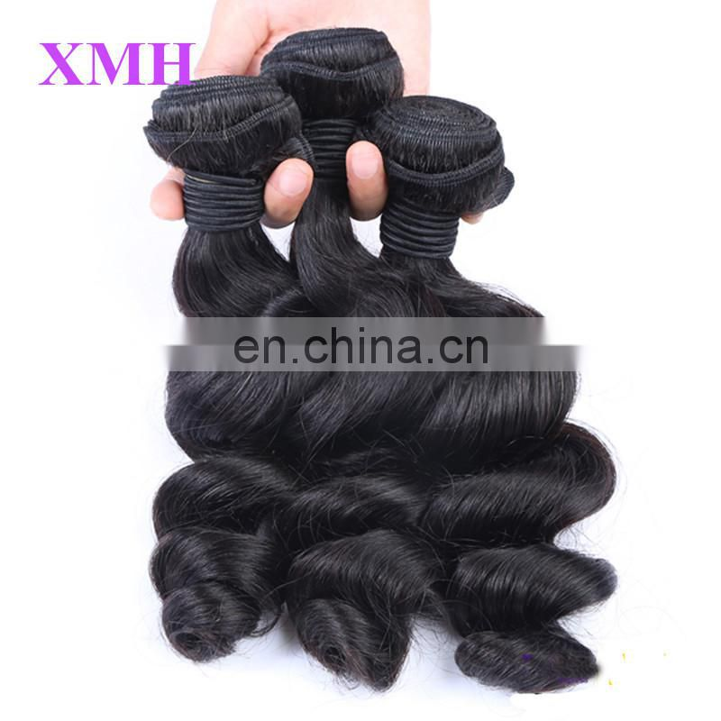 Tangle &Shedding Free Overnight Shipping loose wave virgin brazilian hair bundles