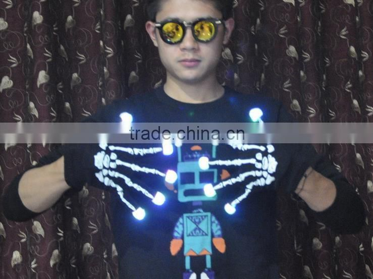 Led Rave Gloves 7 Mode Rave Light Finger Lighting Flashing Glow Mittens LED Gloves factory