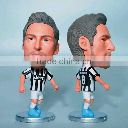 Custom Football player toys Ronaldo figure, PVC football player doll toys,Mini football player toys