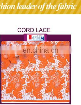 Hot Sale African Organza Lace Fashion teal Embroidered