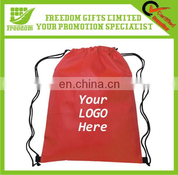 Customized Logo Printed Polyester Cinch Backpack