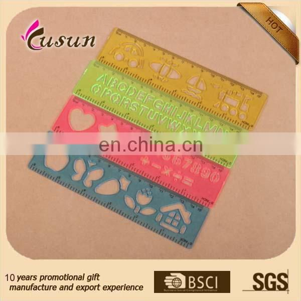 15cm customized promotional silk printing plastic scale ruler