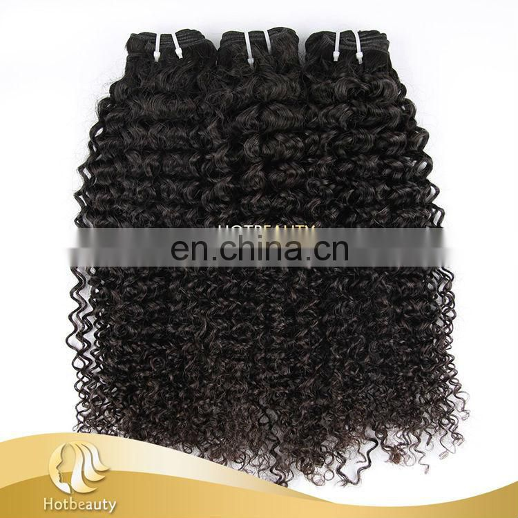 2015 hot selling shedding&shedding free top quality virgin Brazilian kinky curly hair extension