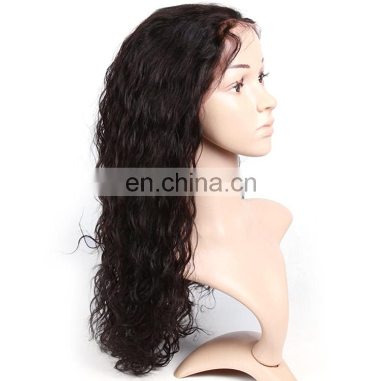 Alibaba express water wave natural hair extensions wigs, remy human hair lace wig, 360 lace front wig