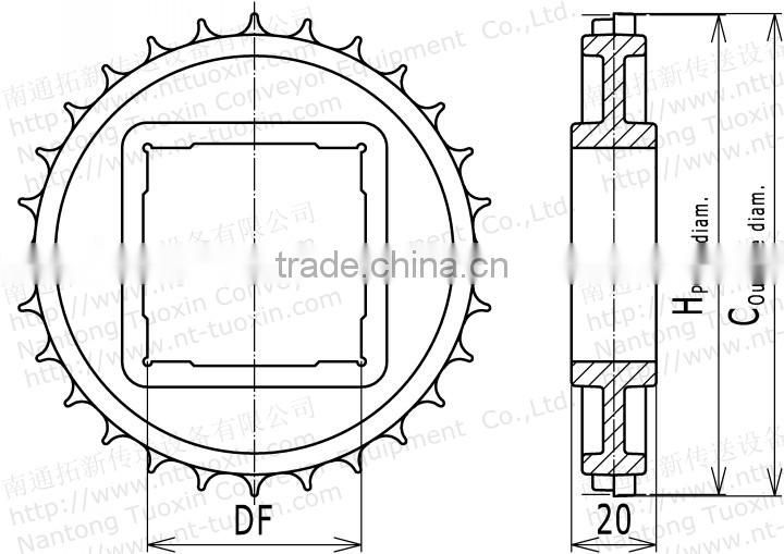 Classic Plastic Sprocket for 500 Modular Conveyor Belt