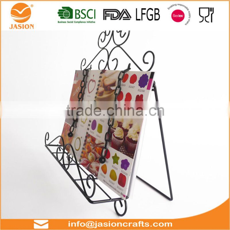 WI2903 Wire Metal Cookbook Holder Stand