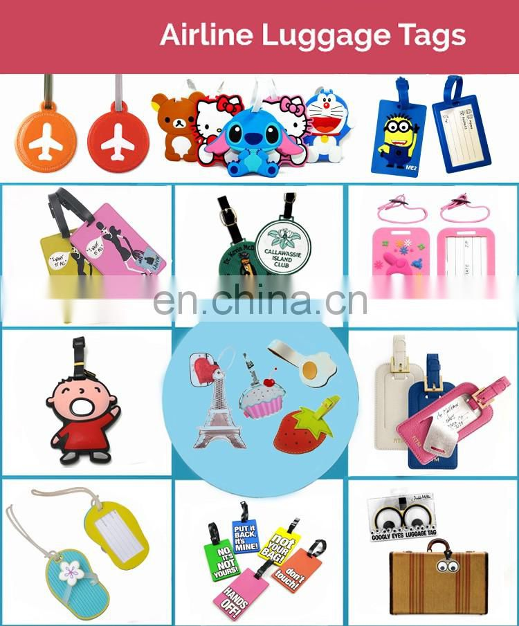 Bag parts accessories custom pvc name tag luggage tag wholesale