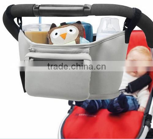 High Quality baby stroller accessories stroller organizer with insulated cup holder baby stroller organizer