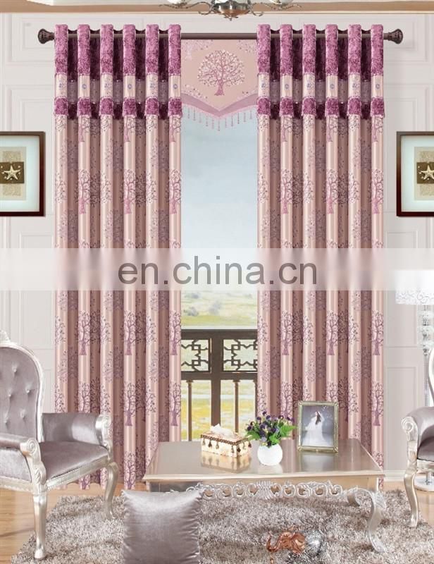 2016 100 polyester jacquard blackout curtain made in Shaoxing