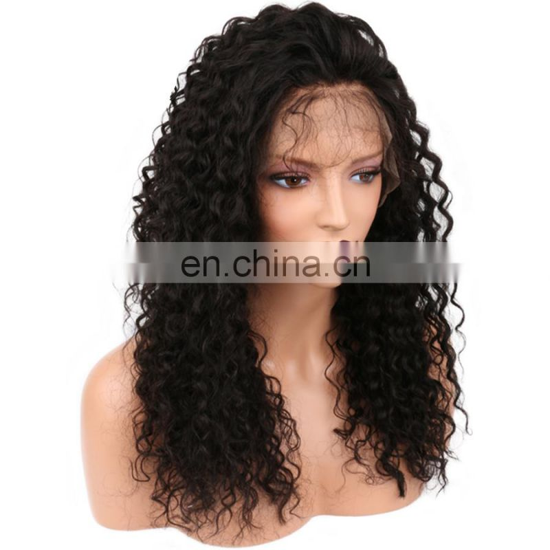 Human hair wigs for black women afro kinky curly full lace wigs