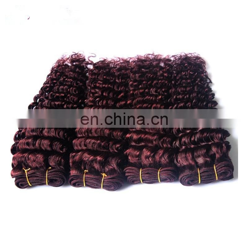 Golden supplier human hair company export 100% real human hair color 99J deep wave indian hair