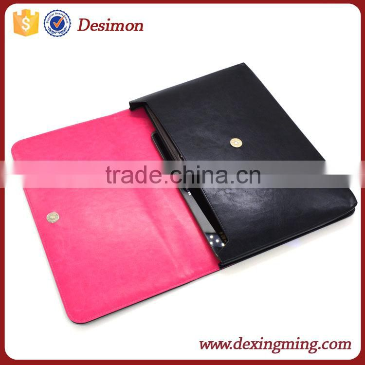 hot selling leather case for laptop, portable laptop case pu leather laptop bag sleeve case
