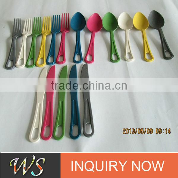 Eco Bamboo Fiber Flatware Set
