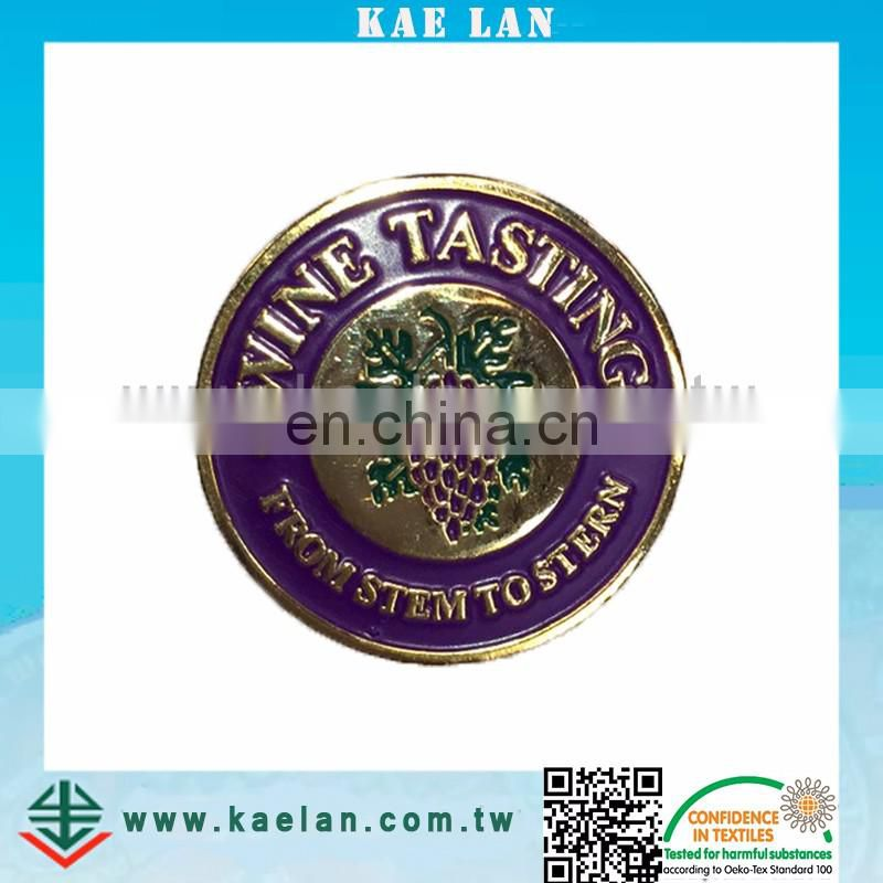 Custom logo pin design badge