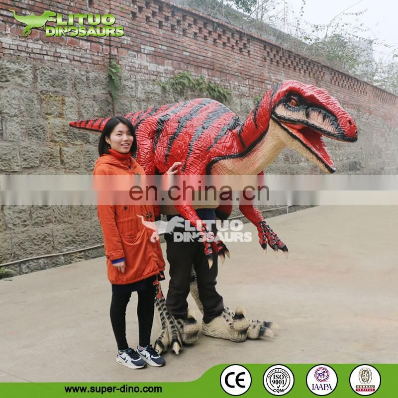 walking with dinosaur costume velociraptor costume