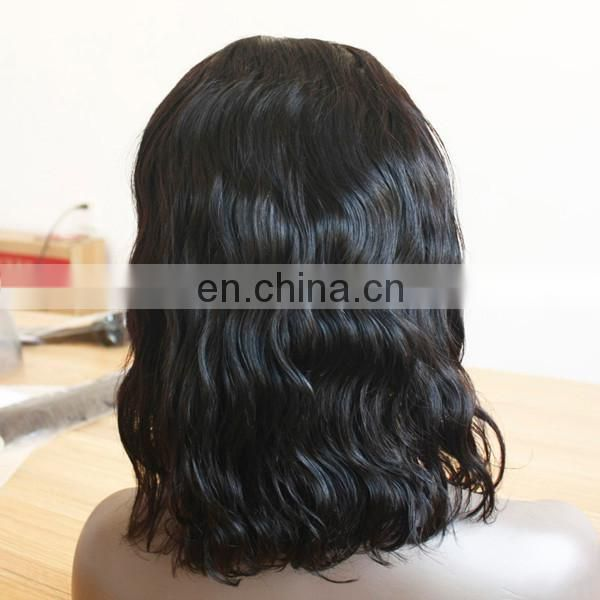 Fast shipping human hair wig 8-26inch in stock full silk top cap lace wig