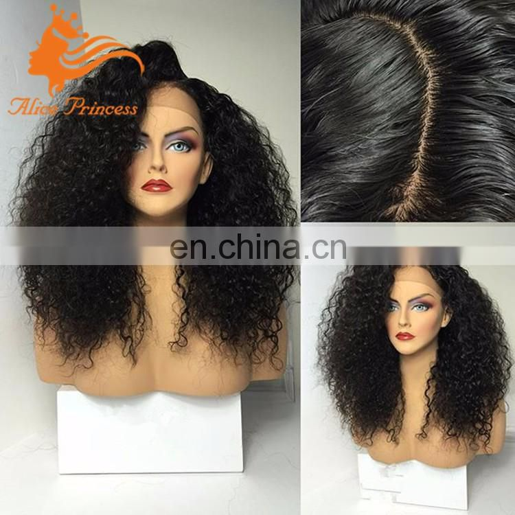 kinky curly silk top full lace wigs brazilian remy virgin human hair kinky curly wig