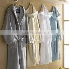Beautiful color in cotton terry velour bath robe for women