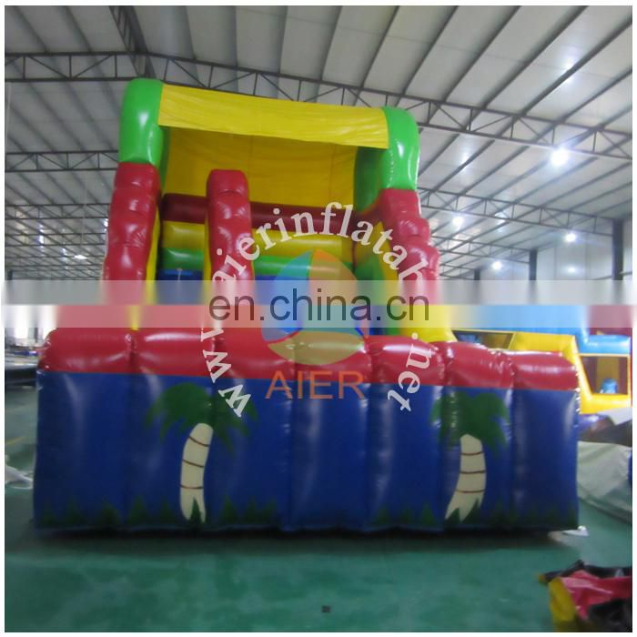 2017 new mini tropical slide , inflatable slide dry slide for kids