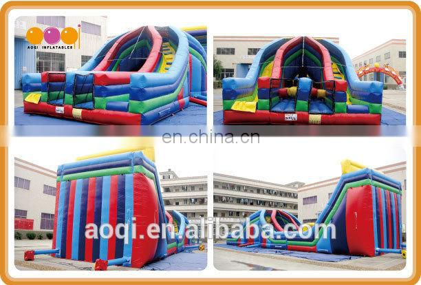 AOQI products latest top quality exciting adult inflatable obstacle course X-LANE obstacle course for promotion