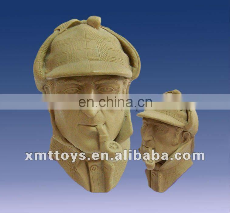 soldier head clay mold prototype