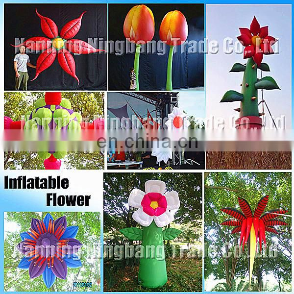 New style attractive decoration inflatable LED star /inflatable LED flower