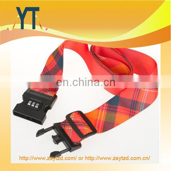 Woven Luggage Holder Strap with plastic buckle