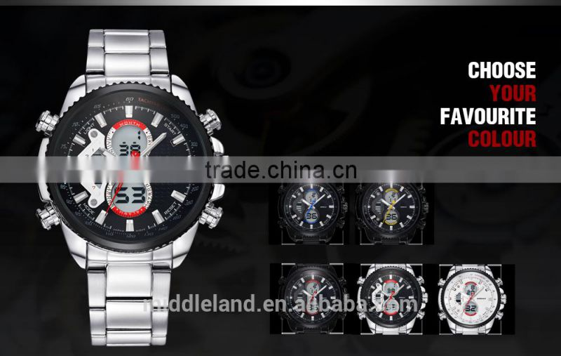 Men Sports MIDDLELAND Watches Military Watch Japan Quartz Movement Stainless Steel Band 30m Water Resistant wristwatch for men