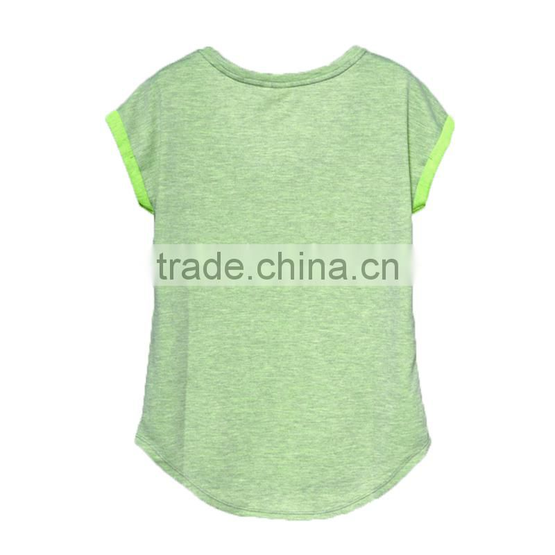 ladies cheap print tshirt100%bamboo fiber tshirt cheap wholesale tshirts