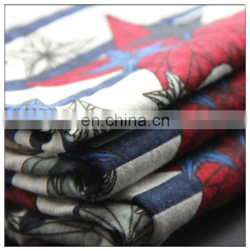 Colored Cotton spandex jersey printed fabric