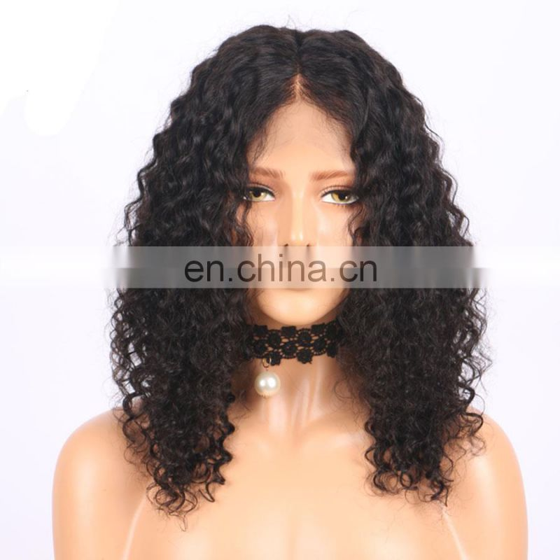 2017 hot sale brazilian remy hair high density human hair wig human hair lace front wig