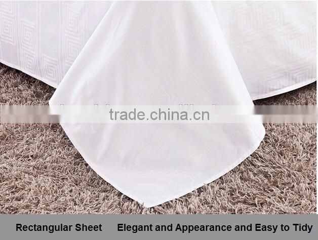 Professional Hotel Textiles Manufacturer Wholesale White Hotel Bed Sheet