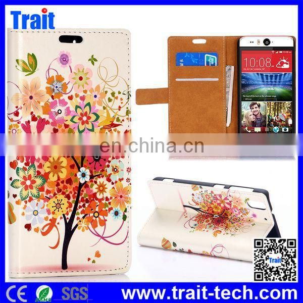 Dropshipping! High Quality Flip Stand PU Leather Case for HTC Desire Eye