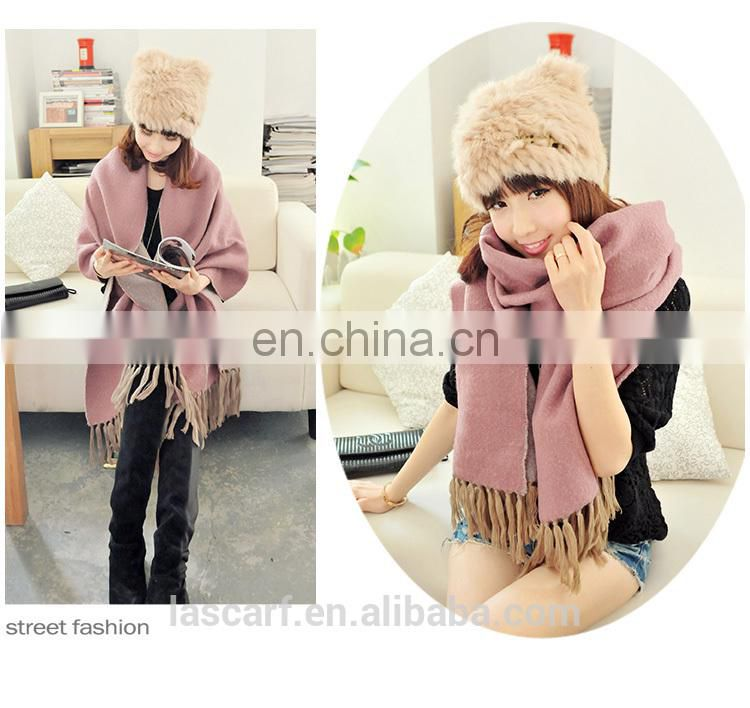 Fashion Long Customize Design Big Size Cheap Price two sides cappa(MO8--2)