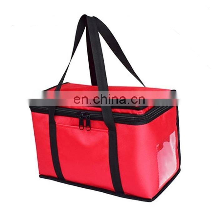 red large cooler bag