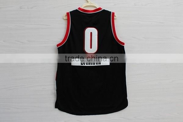 Hot Rip CITY Mens basketball jersey suit 0 Damian Lillard white black basketball uniform design basketball uniform