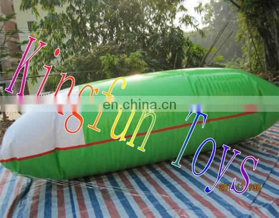 Summer playing inflatable water pillow for park