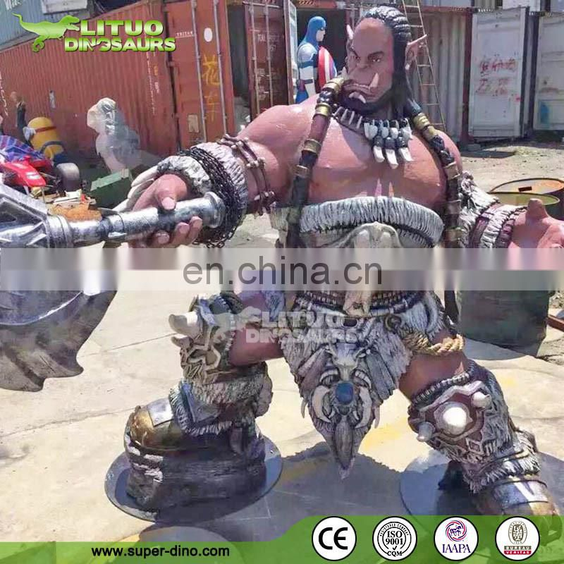 Hot Game Figure Exhibition Brozne Fiberglass Statue For Sale