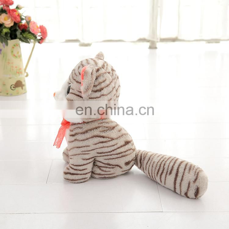 Realistic Plush Stuffed Animals Toy Cat for Sale