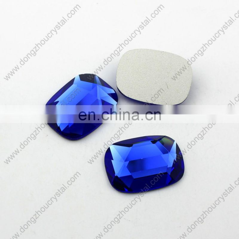 Machine Cut Boat Shape Mirror Glass Jewelry Crystal Stones