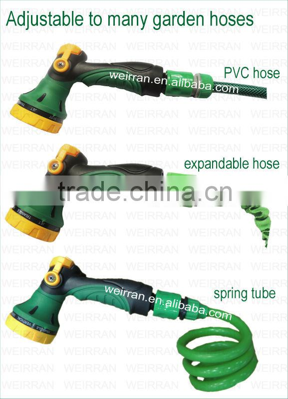 (74111) Adjustable Garden 8 function powerful water nozzle